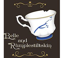 Belle and Rumplestiltskin's cup Photographic Print