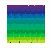 Spectral Frequencies - The Cooler Colors Art Print