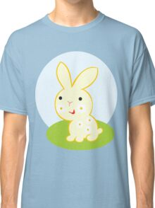 Cute rabbit on sunny glade Classic T-Shirt