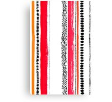 Ink stripes Canvas Print