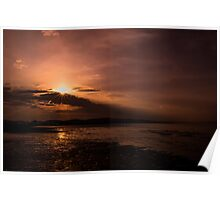 Summer Sunset Glow Poster
