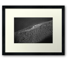 Black and white woods cp3 Framed Print