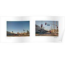 Venice Boulevard + Helms Avenue, Culver City, Los Angeles, California, USA...narrowed. Poster