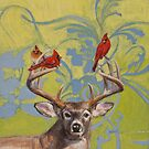 Buck with Cardinals by Kaetlyn Wilcox