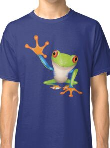 Colorful funny green frog Classic T-Shirt