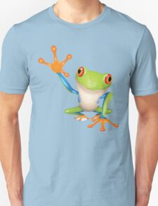 Colorful funny green frog Unisex T-Shirt