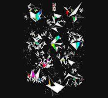 Digital Overlap - Positive Black Unisex T-Shirt