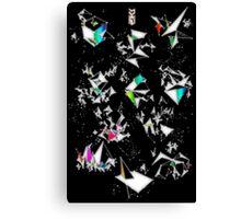 Digital Overlap - Positive Black Canvas Print