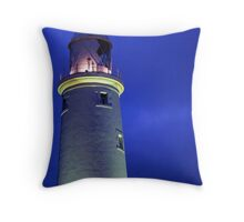 Lighting Up - St Mary's Lighthouse, Whitley Bay Throw Pillow