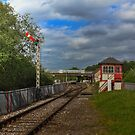 Orton Mere Station and signal box by Avril Harris