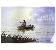 Fishing With A Loyal Friend Poster