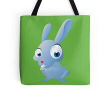 Ridiculous blue rabbit Tote Bag