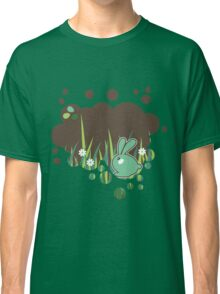 Green bunny with flowers Classic T-Shirt