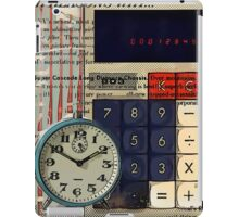 cool geeky nerdy alarm clock retro calculator  iPad Case/Skin