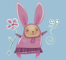 Pink girl bunny in skirt Kids Clothes