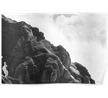 the sound of rocks in clouds Poster