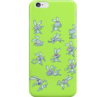 Funny dancing rabbits iPhone Case/Skin