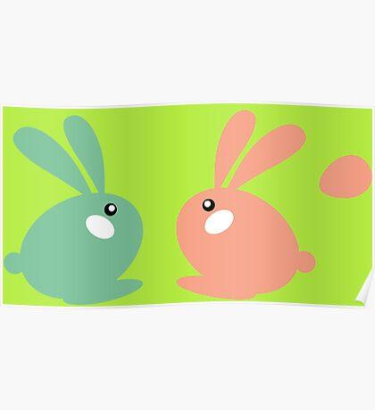 Lovely rabbit couple Poster