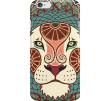 Colorful pattern lion head iPhone Case/Skin