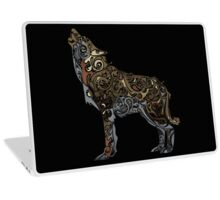 wolf - wild animal. Colorful wolf artwork Laptop Skin