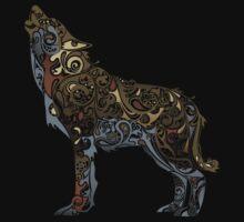 wolf - wild animal. Colorful wolf artwork Kids Tee