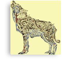 wolf - wild animal. Colorful wolf artwork Canvas Print