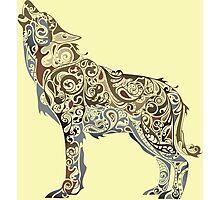 wolf - wild animal. Colorful wolf artwork Photographic Print