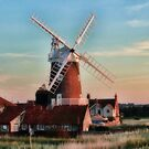 Cley windmill Norfolk by Avril Harris