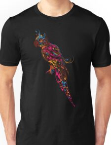 Colorful parrot. Parrot floral pattern. Unisex T-Shirt