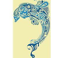 Blue dolphin - unique sea artwork   Photographic Print