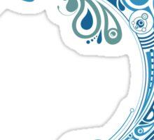 Blue dolphin - unique sea artwork   Sticker
