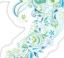 Dolphin - floral with flowers pattern Sticker