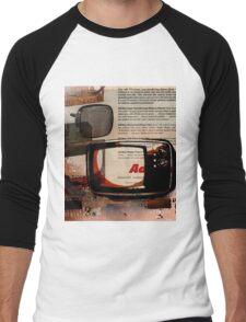 cool geeky tech Retro Vintage TV television Nostalgia Men's Baseball ¾ T-Shirt