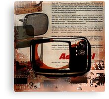cool geeky tech Retro Vintage TV television Nostalgia Canvas Print