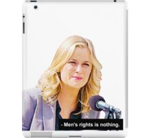 """Men's Rights is Nothing."" iPad Case/Skin"