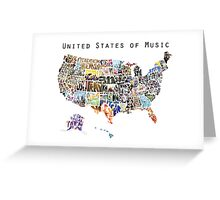 United States of Music Greeting Card