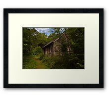 Forest hunter's Lodge Framed Print
