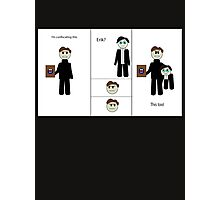 Chibi Charles and Possessive Erik by AaliaKnife Photographic Print