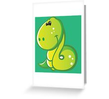 Pretty smiling snake Greeting Card