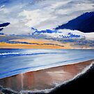 Morning Glory Sunrise over the Ocean Acrylic Painting by Rick Short
