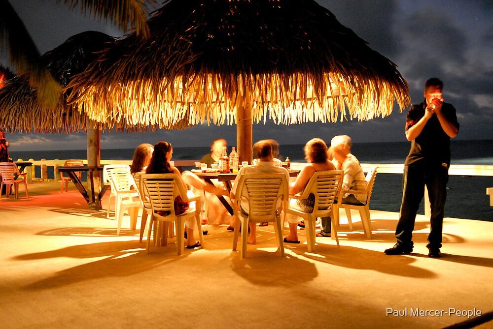 evening drinks by Paul Mercer-People