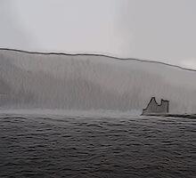 Lochranza Castle in a Storm by DeneWest