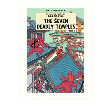 The Adventures of Daredevil: The Seven Deadly Temples Art Print