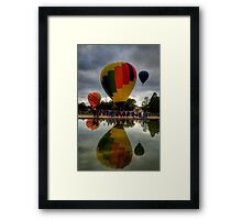 UP ! - Balloonfest,Canberra Australia - The HDR Experience Framed Print