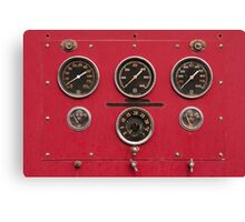 Fire Truck Gauges Canvas Print