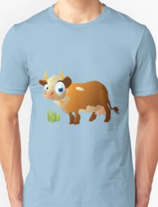 Funny surprised cow Unisex T-Shirt