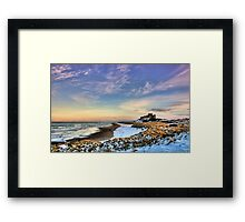 Bamburgh Castle in the Snow Framed Print
