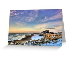 Bamburgh Castle in the Snow Greeting Card