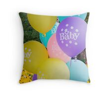 Baby Balloons Throw Pillow