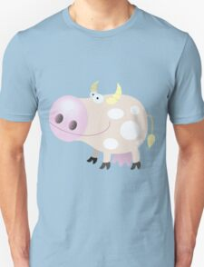 Good-natured smiling cow Unisex T-Shirt